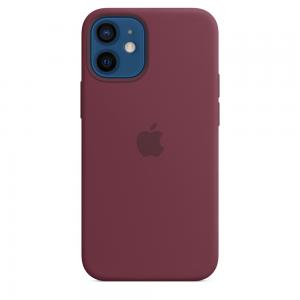 iPhone 12 Mini Silicone Case With Magsafe - Plum
